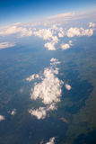 Aerial view with beautiful cloud formation Stock Photography