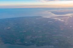 Aerial view of the beautiful Colchester area. At United Kingdom royalty free stock photo