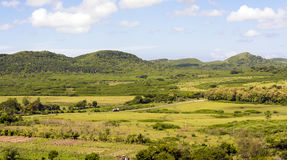 Aerial View of the Beautiful Cuban Countryside Stock Image