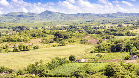 Aerial view of the beautiful Cuban countryside Stock Photography