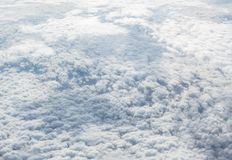 Cumulus clouds. Aerial view of the beautiful cumulus clouds Royalty Free Stock Images