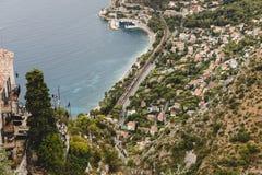 aerial view of beautiful european coastal town, Royalty Free Stock Photo