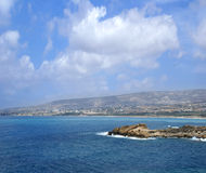 Aerial view of the beautiful island of Cyprus Royalty Free Stock Photo