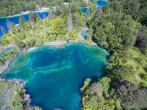Aerial view of beautiful nature in Plitvice Lakes National Park, Croatia Royalty Free Stock Photos