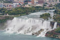 Aerial view of the beautiful Niagara Falls. At Canada stock photos