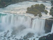 Aerial view of the beautiful Niagara Falls. At Canada royalty free stock photo