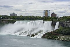 Aerial view of the beautiful Niagara Falls. At Canada stock image