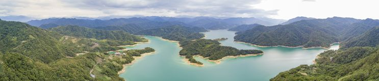 Aerial view of the beautiful Qiandao Lake at Shiding District Stock Images