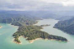 Aerial view of the beautiful Qiandao Lake at Shiding District Stock Image