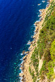 Aerial view of Beautiful Scenic Coastline Stock Image