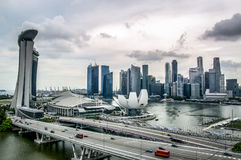 Aerial view of beautiful Singapore city. Singapore skyline, Landscape,Aerial view of beautiful Singapore city Stock Photography