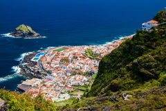 Aerial view of the beautiful small town Garachico stock image