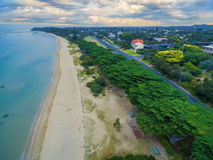 Aerial view of beautiful Sorrento suburb coastline with beautifu. L trees in the morning.  Mornington Peninsula, Melbourne, Australia Stock Photos