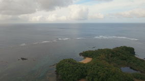 Aerial view beautiful tropical island. Catanduanes island Philippines. stock video