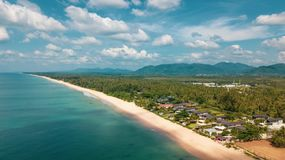 Aerial view of beautiful tropical island stock photos