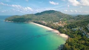 Aerial view of beautiful tropical island royalty free stock photo