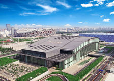 Aerial view of the Beijing Olympic park Stock Images