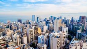 Aerial view of Beirut, Lebanon royalty free stock photo