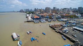 Aerial view of Belem do Para in Brazil Royalty Free Stock Images