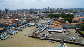 Aerial view of Belem do Para in Brazil.  Royalty Free Stock Photography