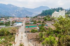 Aerial view of Belen Gualcho village, Hondur. As stock images