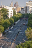Aerial view of Belgrade street Stock Photos