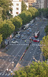 Aerial view of Belgrade street Stock Photography