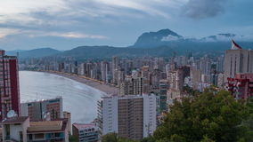 Aerial view of Benidorm, Costa Blanca stock footage
