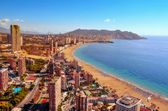 Aerial view of Benidorm, Spain