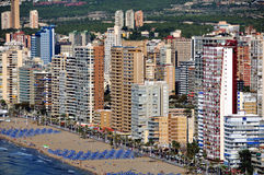 Aerial view of Benidorm, Spain Stock Image