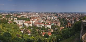Aerial view of Bergamo Royalty Free Stock Photography