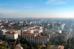 Aerial view on Bergamo town, Lombardy, Italy Royalty Free Stock Photography