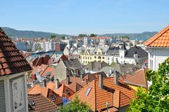 Aerial view of Bergen, Norway Royalty Free Stock Photo
