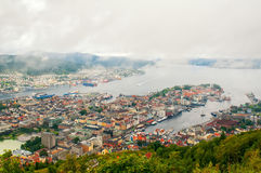 Aerial view of Bergen, Norway Stock Images