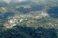 Bracknell, Berkshire - aerial view Royalty Free Stock Photo