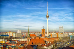 Aerial view on Berlin Royalty Free Stock Images