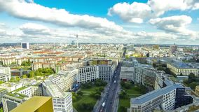 Aerial view of Berlin center, Germany stock video footage