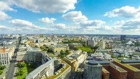 Aerial view of Berlin center, Germany stock video