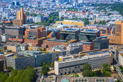 Aerial view of Berlin city Stock Photography