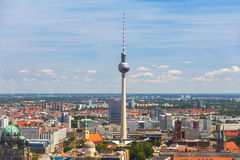 Aerial view of Berlin city Royalty Free Stock Photo