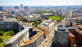 Aerial View of Berlin. Germany during beautiful sunny day Royalty Free Stock Photography
