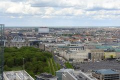 Aerial view of Berlin Royalty Free Stock Photos