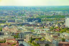 Aerial view of Berlin skyline with colorful buildings royalty free stock photography