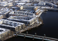 Aerial view of Berlin Royalty Free Stock Images