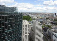 Aerial view of Berlin at summer time Stock Image
