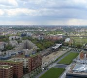 Aerial view of Berlin at summer time Royalty Free Stock Images