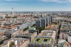 Aerial view of Berlin with Television tower Stock Image