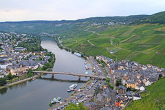Aerial view of Bernkastel Royalty Free Stock Photos