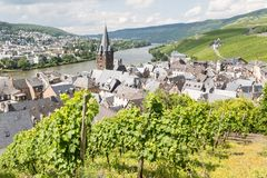 Aerial view of BernKastel-Kues in Germany Stock Images