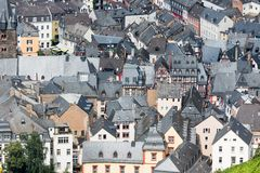 Aerial view of BernKastel-Kues in Germany Stock Photo